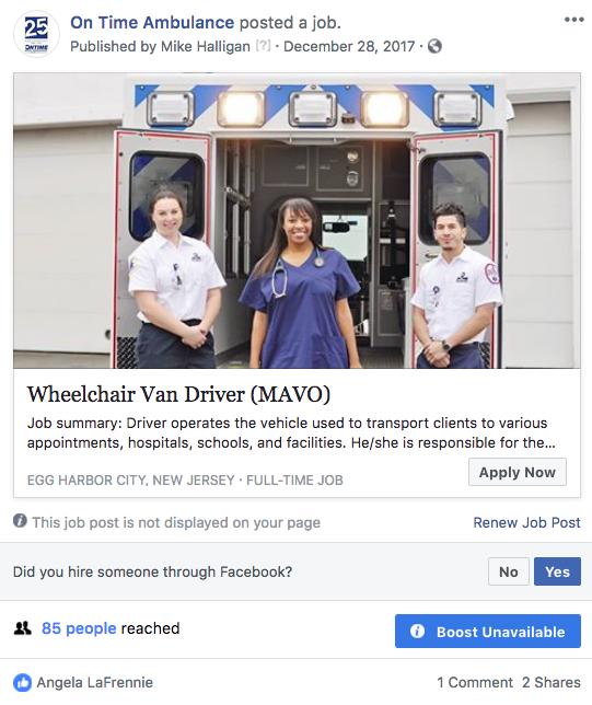 On Time Facebook Job