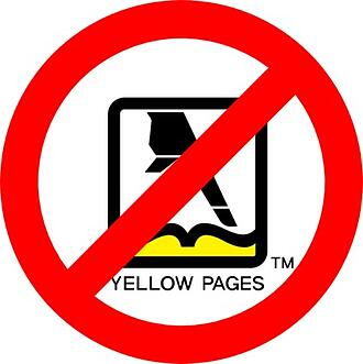 cancel your yellow pages subscription immediately!