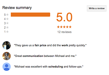 electrical contractor google reviews